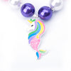 Mermaid Unicorn Chunky Necklace Glitter for Girls - UnicornsAreAwesome