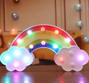 Rainbow Night Light - UnicornsAreAwesome