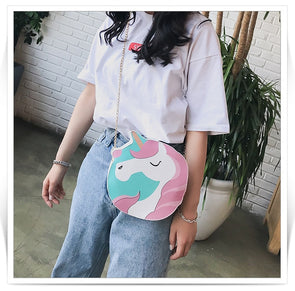 Unicorn Mini Chain Round Shoulder Bag - UnicornsAreAwesome
