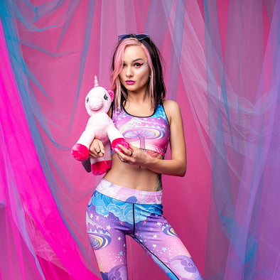 Unicorn Rebel Sports Bra With 3D Printing - UnicornsAreAwesome