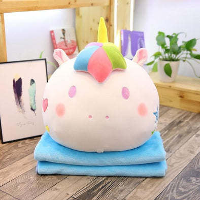 Unicorn Pillow & Blanket Set - Find a Blanket Inside Your Pillow - UnicornsAreAwesome
