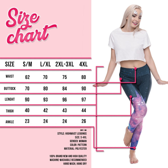 Unicorn Rebel High Waist Slimming Leggings - UnicornsAreAwesome
