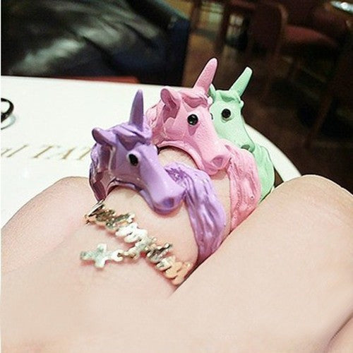 Unicorn Multicolor Finger Ring - UnicornsAreAwesome