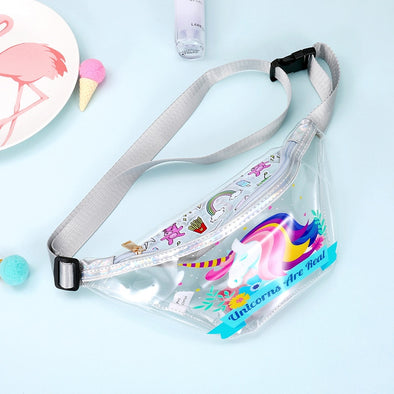 Transparent Belt Bag for Girls - UnicornsAreAwesome