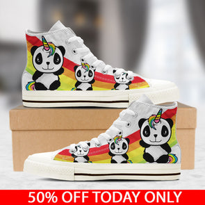 Awesome Unicorn High Top Shoes - Pandacorn - UnicornsAreAwesome
