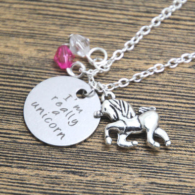 Unicorn Necklace with Pendant - UnicornsAreAwesome