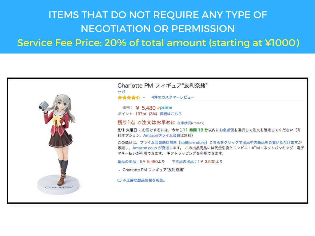 Price for Amazon JP purchases Luxas Shop