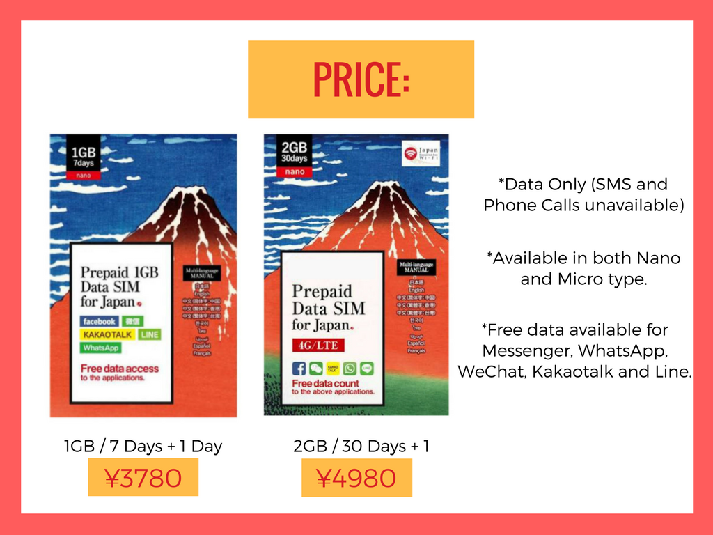 Japan Prepaid Sim Card (1GB) + Personalized Travel Guidebook - luxasshop