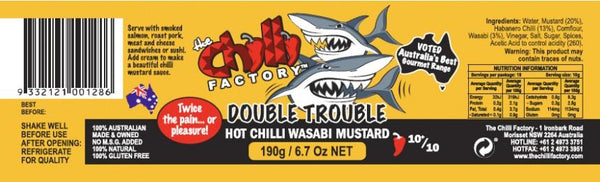 Double Trouble Hot Chilli Wasabi Mustard by The Chilli Factory - House of Scoville
