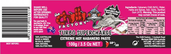 Turbo Supercharge Habanero Paste by The Chilli Factory