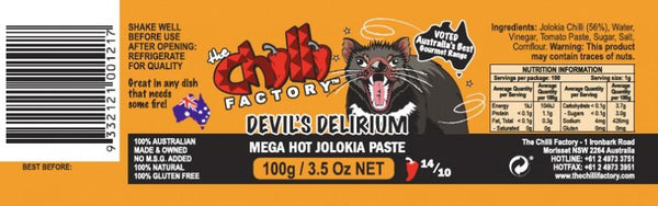Devil's Delirium Jolokia Paste by The Chilli Factory - House of Scoville