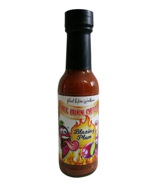 Blazing Plum Hot Sauce by All Burn Chilli