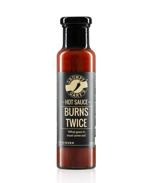 Burns Twice Hot Sauce by Grumpy Gary's - House of Scoville