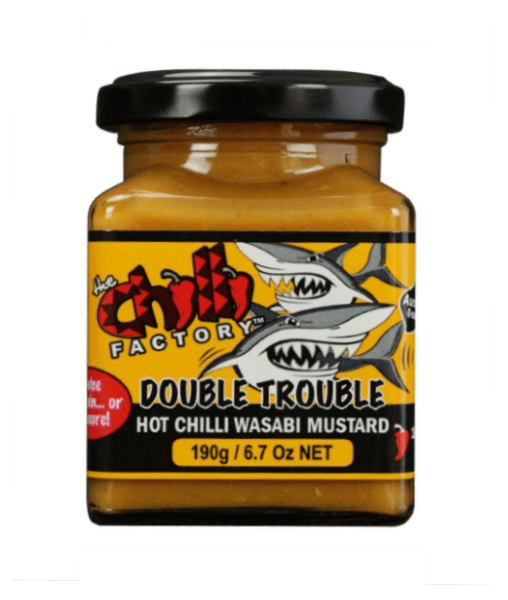 Double Trouble Hot Chilli Wasabi Mustard by The Chilli Factory