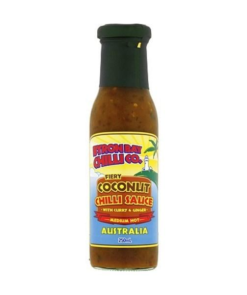 Fiery Coconut Chilli Sauce with Curry & Ginger by Byron Bay Chilli Co. - House of Scoville