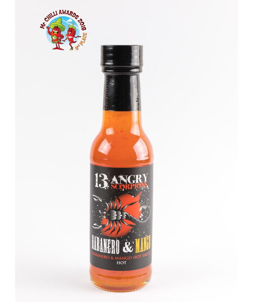 Habanero & Mango Hot Sauce by 13 Angry Scorpions