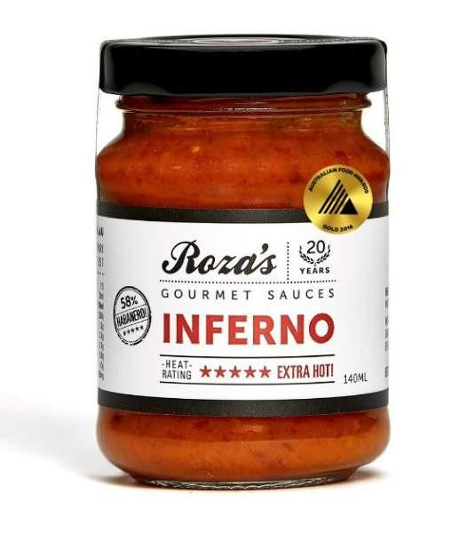 Inferno Chilli Sauce by Roza's Gourmet
