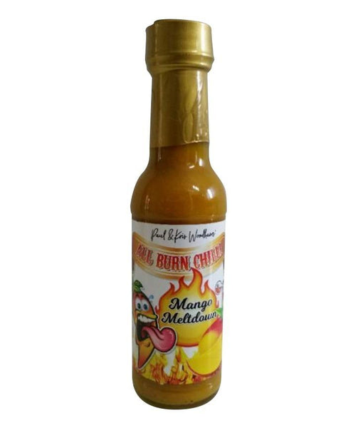 Mango Meltdown Hot Sauce by All Burn Chilli