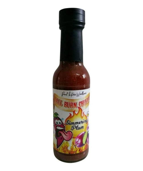 Simmering Plum Hot Sauce by All Burn Chilli - House of Scoville