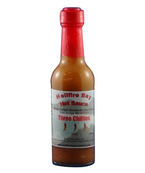 Three Chillies by Hellfire Bay Hot Sauce - House of Scoville