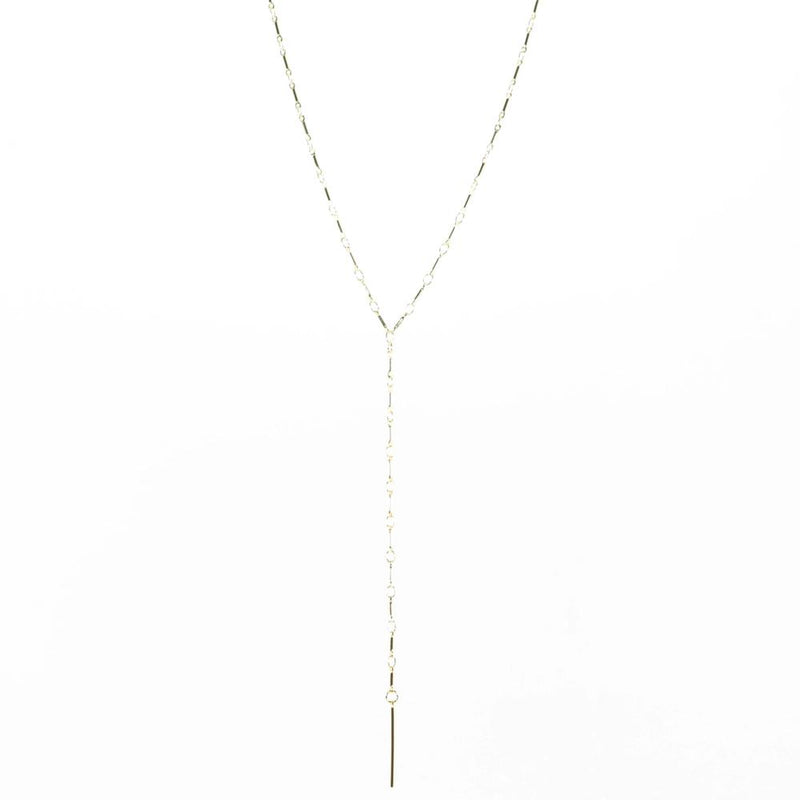 Chain Reaction Pear Necklace