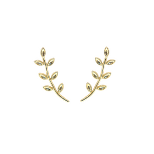 Leaf Climber Earrings