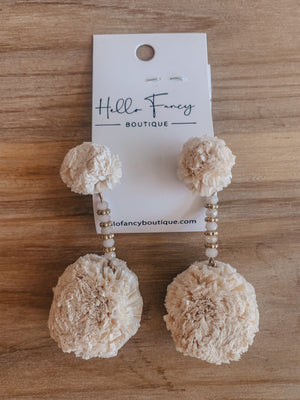 Cream Puff Earring