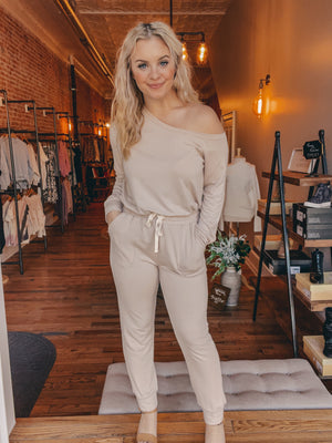 Taupe Terry Jumpsuit
