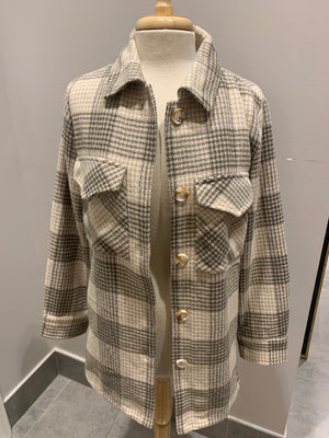 Flannel Button Down Jacket