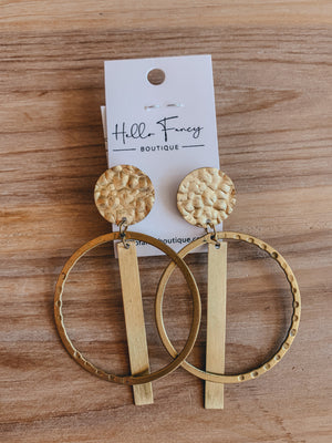 Gold Statement Circle Earring