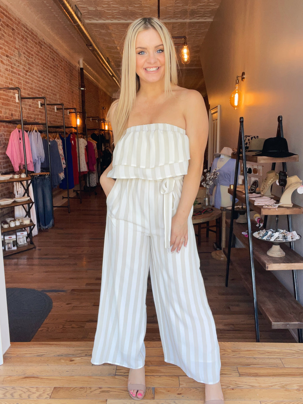 Look So Good Jumpsuit Beige