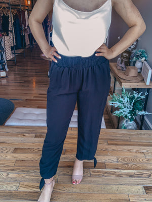 Black Casual Woven Trousers