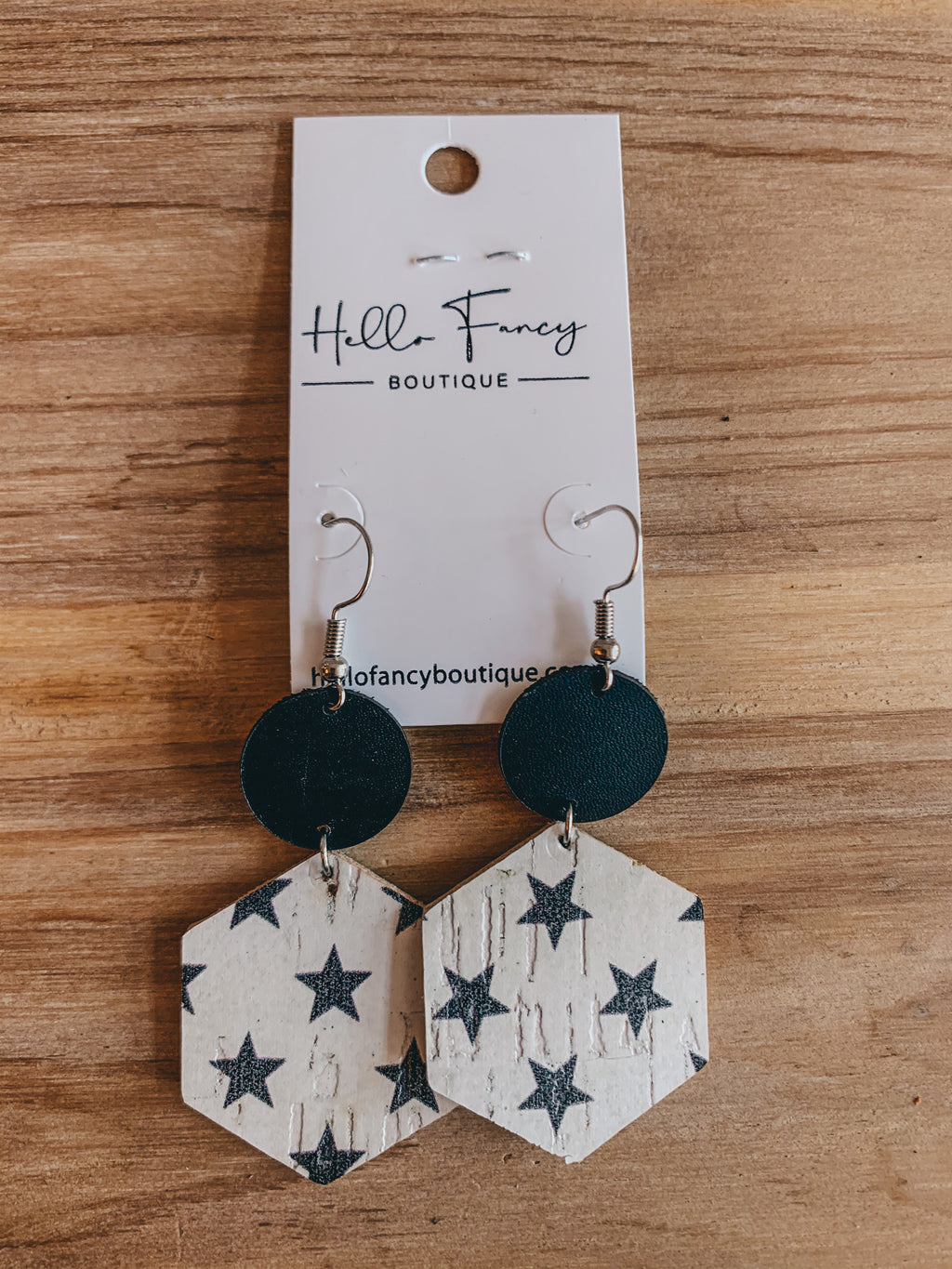 Stars On White Earrings