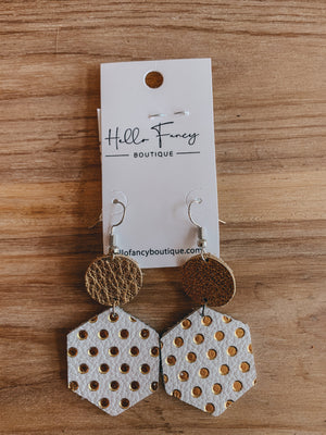 Gold Polka Dot Earrings