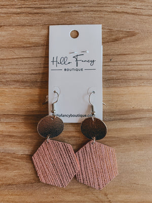 Rose Gold & Pink Earrings