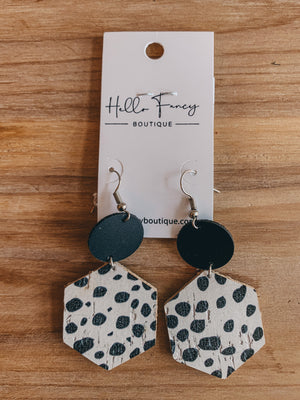 Dalmation Spotted Earrings