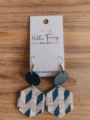 Lattice Hexagon Earrings
