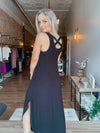 Cross Back Black Maxi