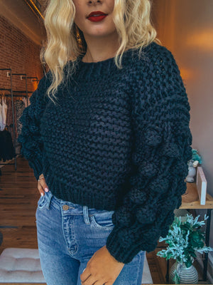 Chunky Black Sweater
