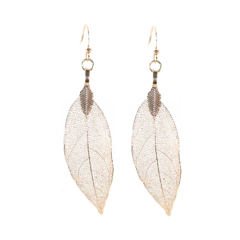 Layla Gold Leaf Earrings