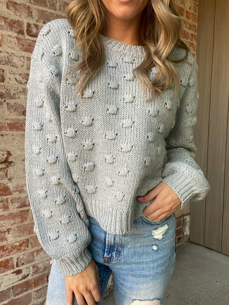 What I Did For Love Sweater - Gray