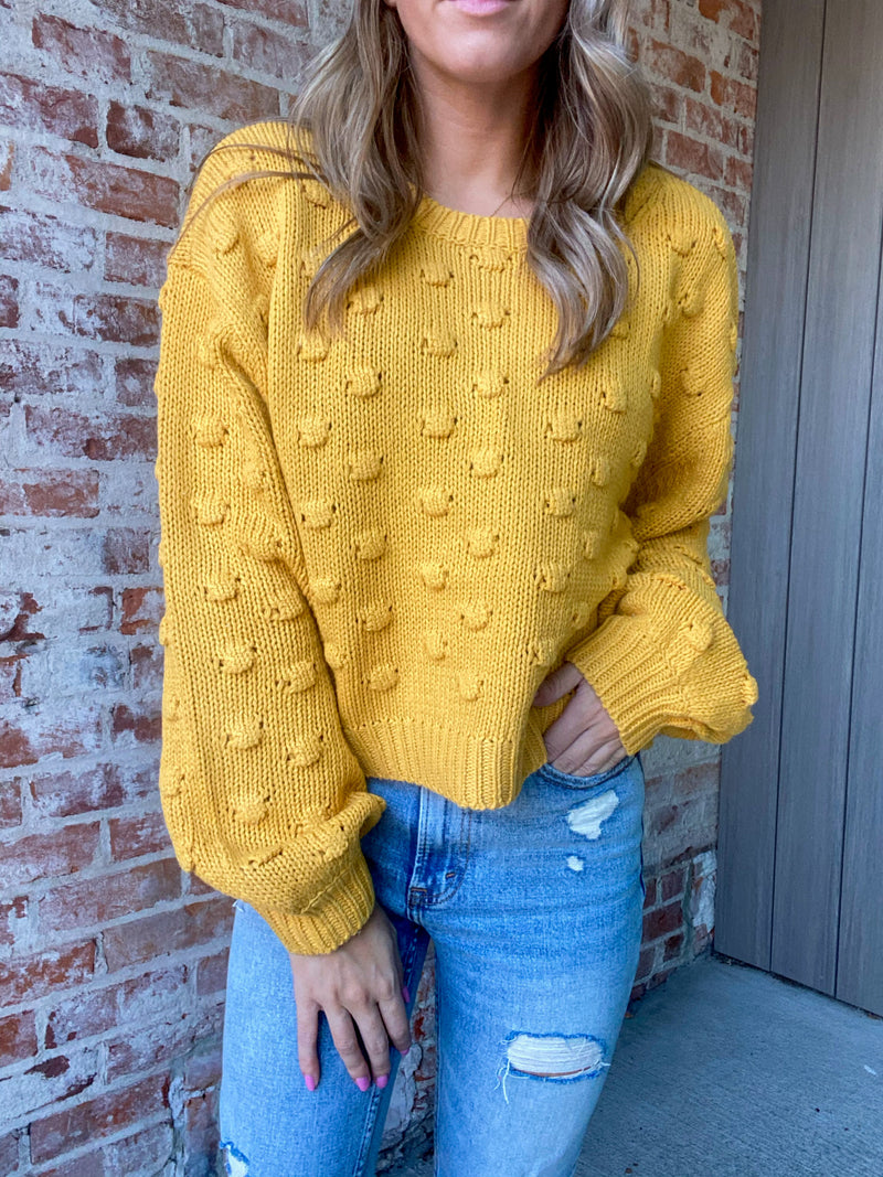 What I Did For Love Sweater - Mustard