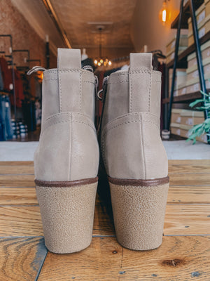 All Yours Taupe Bootie