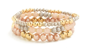 Dusty Rose Crystal Bracelet Pack