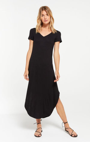 Z SUPPLY - Reverie Rib Dress - Black