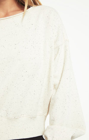 Z SUPPLY - Allie Speckled Sweatshirt - Natural