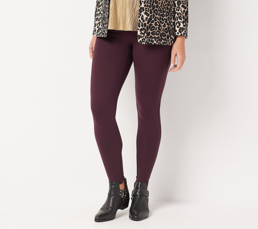 SPANX Ponte Ankle Leggings - Burgundy