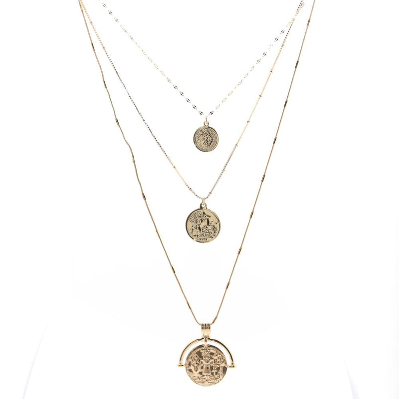 Layer All The Way - 3 Coin Necklace