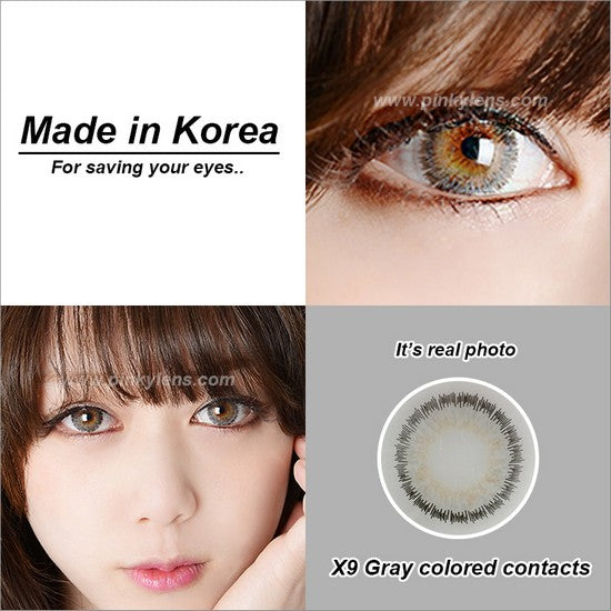 X9 GREY colored contacts
