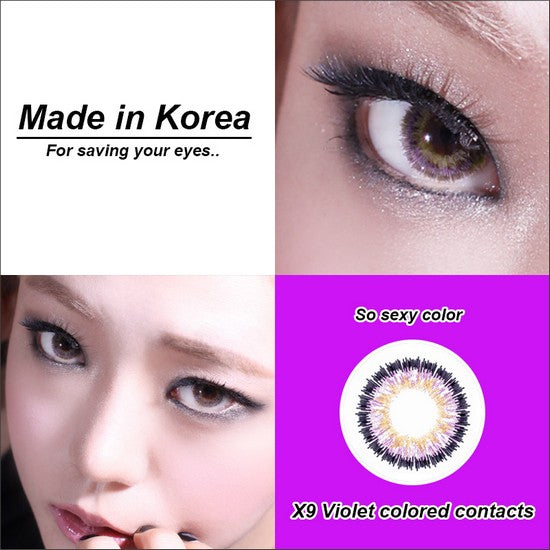 X9 PURPLE colored contacts